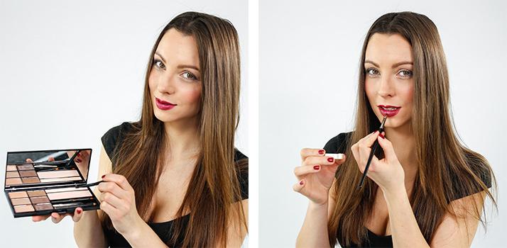 Lippenstift-Fixierer mit Glitzer