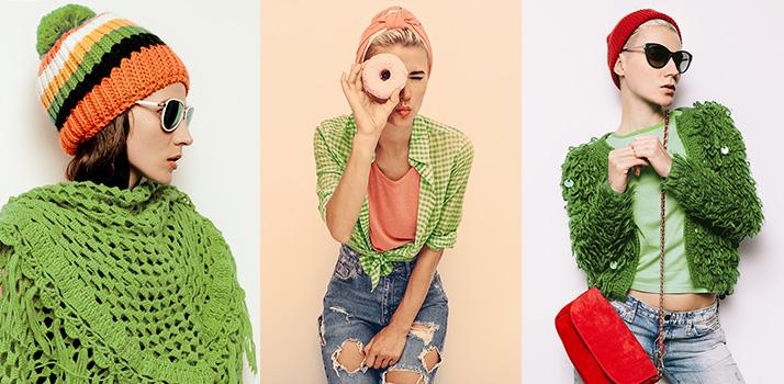 Mode, Kleidung, grün, greenery