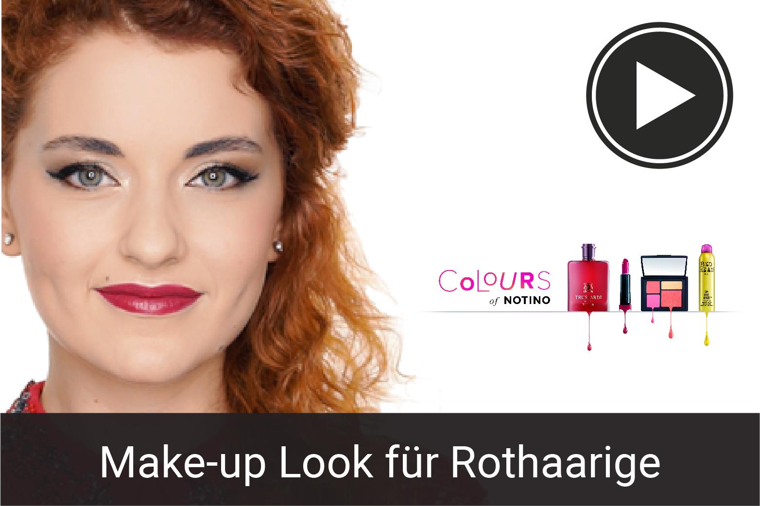 Make-up Tutorial: Goldnes Make-up für Rothaarige